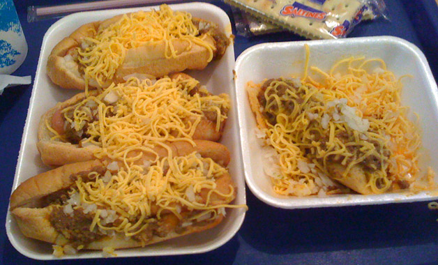 coneys and a tamale. Perfection